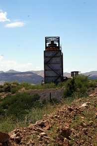 Photo of Magma Copper Mine cooling tower