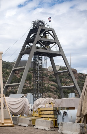 Photo of Magma Copper Mine structure above Shaft #10