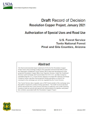 Thumbnail image of Draft Record of Decision document cover