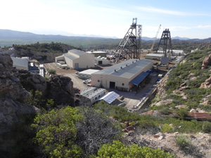 Photo of mining buildings at East Plant site