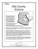 Thumbnail image of Community Profile - Gila County, Arizona cover with Arizona map