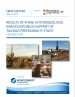 Thumbnail image of Results of Phase II Hydrogeologic Investigations in Support of Tailings Prefeasibility Study, Far West Site report cover with photographs of desert and drilling equipment