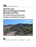 Thumbnail image of USFS ALSMA EA and FONSI document with photo of Apache Leap Escarpment
