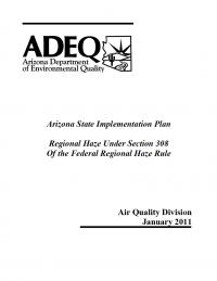 Thumbnail image of ADEQ Regional Haze report cover
