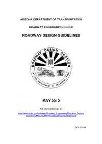Thumbnail image of Roadway Design Guidelines document cover