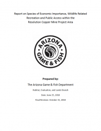 Thumbnail image of Report on Species of Economic Importance document cover
