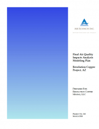 Thumbnail image of Final Air Quality Impacts Analysis Modeling Plan March 2018 cover