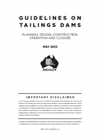 Thumbnail image of Guidelines on Tailings Dams document cover