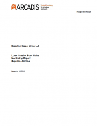Thumbnail image of Lower Smelter Pond Noise Monitoring Report