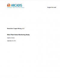 Thumbnail image of West Plant Noise Monitoring Study cover