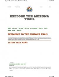 Thumbnail image of Explore the Arizona Trail webpage