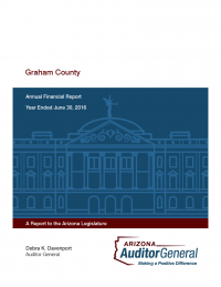 Thumbnail image of Graham County: Annual Financial Report and Single Audit Report, Year Ended June 30, 2016 cover