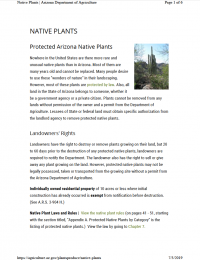 Thumbnail image of Native Plants webpage cover