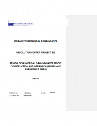 Thumbnail image of Review of Numerical Groundwater Model Construction and Approach document cover