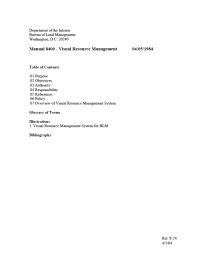 Thumbnail of Visual Resource Management document first page