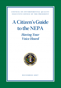 Thumbnail image of the Citizen's Guide to NEPA