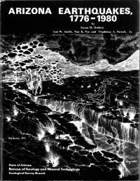 Thumbnail image of Arizona Earthquakes book cover