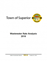 Thumbnail image of Town of Superior: Wastewater Rate Analysis document cover