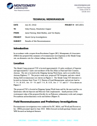 Thumbnail image of Results of Site Reconnaissance memo cover