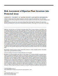 Thumbnail image of Risk assessment of riparian plant invasions into protected areas article cover