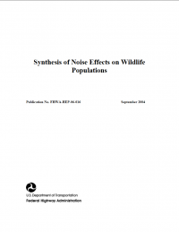 Thumbnail image of Synthesis of Noise Effects on Wildlife Populations document cover