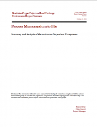Thumbnail image of Summary and Analysis of Groundwater-Dependent Ecosystems memo cover
