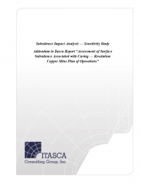 Thumbnail image of Addendum to ITASCA Report document cover
