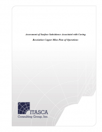 Thumbnail image of Assessment of Surface Subsidence Associated with Caving, Resolution Copper Mine Plan of Operations document cover