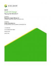 Thumbnail image of Draft EIS Design: Peg Leg Site Alternative 5 report cover