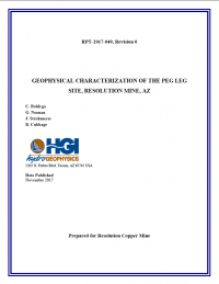 Thumbnail image of Geophysical Characterization of the Peg Leg Site document cover