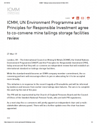 Thumbnail image of ICMM press release