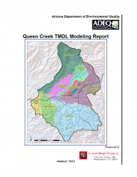 Thumbnail image of Queen Creek TMDL Modeling Report cover