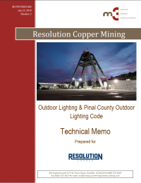 Thumbnail image Outdoor Lighting and Pinal County Outdoor Lighting Code document cover