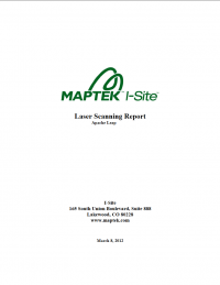Thumbnail image of Laser Scanning Report cover