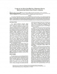 Thumbnail image of Flora of the Appleton-Whittell Research Ranch first page