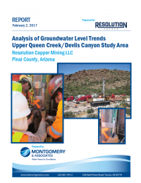 Thumbnail image of Analysis of Groundwater Level Trends, Upper Queen Creek/Devils Canyon Study Area document cover