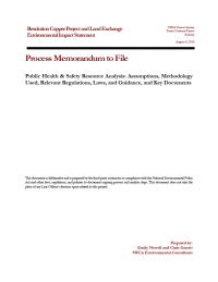 Thumbnail image of Public Health and Safety Resource Analysis memo cover