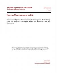 Thumbnail image of Environmental Justice Resource Analysis memo cover
