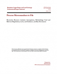 Thumbnail image of Recreation Resource Analysis memo cover