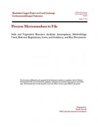 Thumbnail image of Soils and Vegetation Resource Analysis memo cover