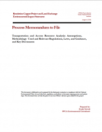 Thumbnail image of Transportation and Access Resource Analysis memo cover