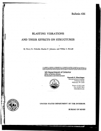 Thumbnail image of Blasting Vibrations and Their Effects on Structures bulletin cover