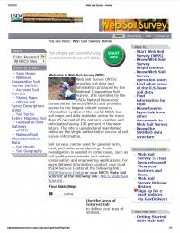 Thumbnail image of NRCS Web Soil Survey webpage