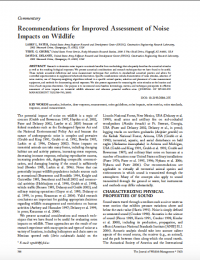Thumbnail image of Recommendations for improved assessment of noise impacts on wildlife first page