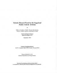 Thumbnail image of Seismic Hazard Posed by the Sugarloaf Fault document cover