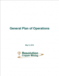 Thumbnail image of the General Plan of Operations: Resolution Copper Mining