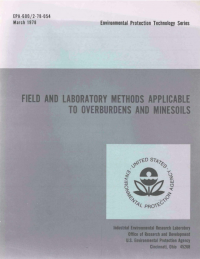 Thumbnail image of Field and Laboratory Methods Applicable to Overburden and Mine Soils cover
