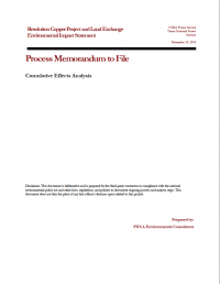 Thumbnail image of Cumulative Effects Analysis memo cover