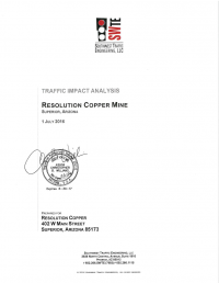 Thumbnail image of Traffic Impact Analysis document cover
