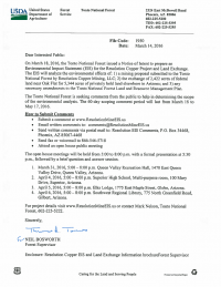 Thumbnail image of the March 2016 scoping letter invitation